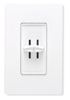 Lutron Skylark Combination Dual 300W Dimmers Single-Pole-White