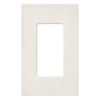 Lutron 1-Gang Satin Colors Screwless Decorator Wall Plate-Biscuit