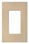 Lutron 1-Gang Satin Colors Screwless Decorator Wall Plate-Desert Stone