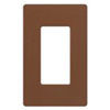Lutron 1-Gang Satin Colors Screwless Decorator Wall Plate-Sienna