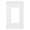 Lutron 1-Gang Satin Colors Screwless Decorator Wall Plate-Matte White