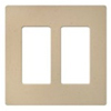 Lutron 2-Gang Satin Colors Screwless Decorator Wall Plate-Matte Desert Stone