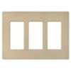 Lutron 3-Gang Satin Colors Screwless Decorator Wall Plate-Desert Stone