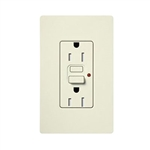 Lutron Satin Colors GFCI Duplex Receptacle-Biscuit