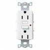 Lutron Satin Colors GFCI Duplex Receptacle-White