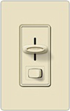 Lutron 450W Skylark Magnetic Low Voltage Slide Dimmer Single Pole-Lt Almond
