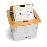 Lew Electric PUFP-CT-B Countertop Box, Pop Up w/20A & GFI Receptacle - Brass