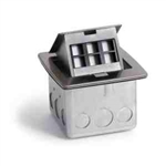 Lew Electric PUFP-CT-SS-6PORT Countertop Box, Pop Up w/ 6 Keystone Ports, Single Gang - Stainless Steel