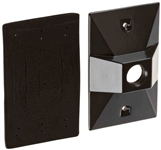 R14-1A Weatherproof Cover Rectangular 1 Hole Bronze
