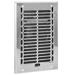 Cadet RBF101 120V 1000W Fan-Forced Wall Heater With Grill & Frame Only - Chrome (Open Box Item)