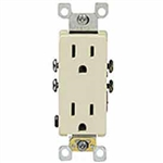 Decora Duplex Receptacle Self-Grounding-15A-125V-5-15R-Almond