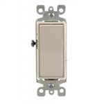 Single-Pole-AC Quiet Decorator Switches 15AMP Push-In and Side Wired 120-277V AC-White