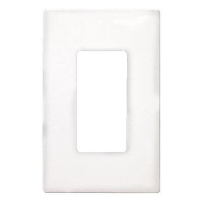 1 Gang Decorator Screwless Wallplate White