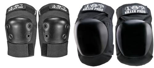 187 Killer Pads roller derby skateboard safety Black Fly Knee Pads
