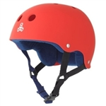 Triple Eight Brainsaver Rubber Skateboard Helmet With Sweatsaver Liner