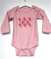 Berry Players on Pink Onesie - Long Sleeve