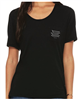 Women's Flowy Pocket Tee in Black