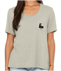 Women's Flowy Pocket Tee in Stone