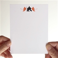 Hockey Stationery - Goalie Player Trio - Orange Black