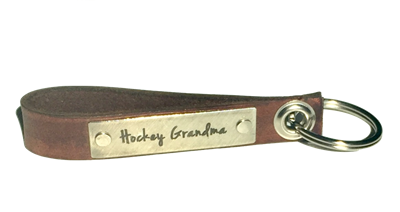 Hockey Grandma -- Loop Leather Keychain (more colors)