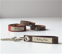 Hockey Mom -- Loop Leather Keychain (more colors)