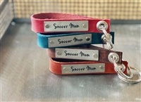 Soccer Mom -- Loop Leather Keychain (more colors)