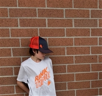 RINKTIME Tee - Grey and Orange - Only XS & S Left
