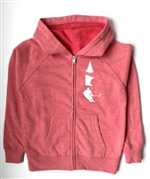 Youth Zip-Up Midweight Sweatshirt - Pomegranate MN Trio