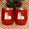 Hockey Skate Tumbler, Set of 2 - RED with White Skate - SOLD OUT