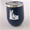 *ALL NEW* Hockey Skate Tumbler - Navy