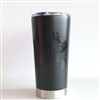 20.9 oz Hockey Player Travel Tumbler - BLACK TONE