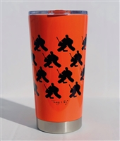 20.9 oz Hockey GOALIE Travel Tumbler - ORANGE