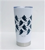20.9 oz Hockey Player Travel Tumbler - WHITE