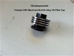 Triumph CNC Machined BLACK Alloy Oil Filler Cap