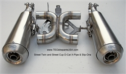 TEC Street Twin and Street Cup D-Cat X-Pipe & Slip-Ons