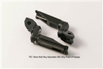 TEC  Black Multi-Way Adjustable CNC Alloy Rider's Footpegs