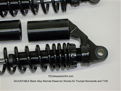 Tec Black Front And Rear Adjustable Suspension Kit For