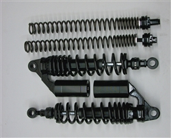 TEC Black Front and Rear Adjustable Suspension Kit for Triumph T100