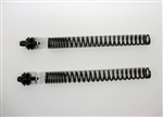 TEC Front Fork Upgrade Kit for Triumph Street Scrambler, featuring adjustable ride height and progressive rate springs