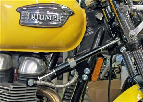 Triumph Bonneville Thruxton Scrambler T100 Steering Damper Black