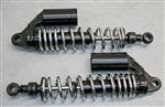 TEC Black/Chrome Alloy Remote Reservoir Shocks for Triumph Street Scrambler - All Years - with ADJUSTABLE DAMPING