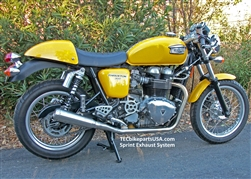 Triumph Stainless Steel 2 into 2 SPRINT Exhausts T100 SE Bonneville Thruxton