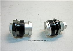 TEC CNC Fork Top Pre Load Adjusters for Cartridge-Type Forks: Speed Twin, T120 etc