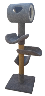Play Perch Triplex Deluxe Cat Tower w/ (3) Cat Perch (1) Cat Tunnel