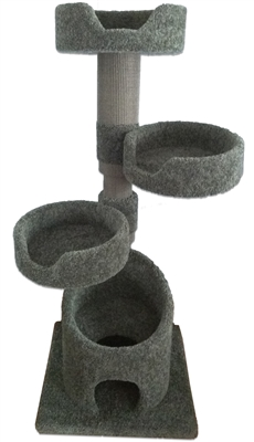KB3 Cat Tower w/ (3) Cat Beds