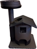 Charcoal Snow Leopard Queen's Kastle II Luxury Cat Tower w/ Cat Bed