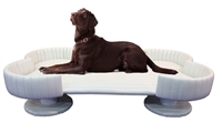 Extra Large Royal Bone Dog Bed White