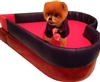 Deluxe Royal Heart Dog Bed