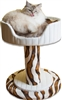 Designer Cat Bed Ivory Sahara
