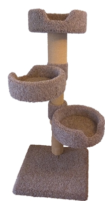Hybernest Triplex Cat Tower w/ (3) Cat Bed